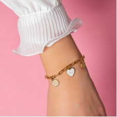 LINK BRACELET WITH CHARMS - LOVE